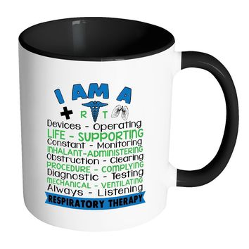 Respiratory Therapist Mug White 11oz Accent Coffee Mugs