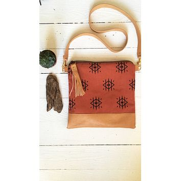 Rust tribal crossbody
