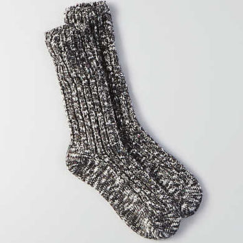 AEO Donegal Slub Crew Socks , Burgundy