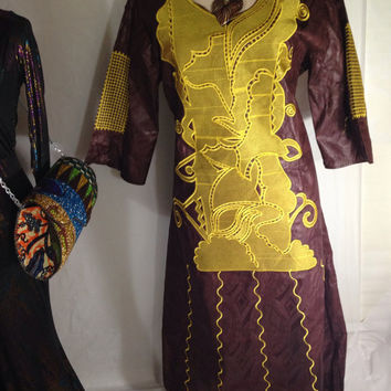 New Items:   Bazin, Brocade, The African Clothing, African Dress, Wax ,2 Piece Brocade suit -  Select Color of your choice.US 16/18/20