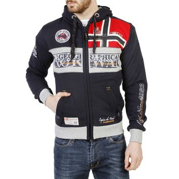 Geographical Norway Flyer Zip Up Sweatshirt (navy)