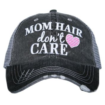 Katydid Mom Hair Don't Care Trucker Hat