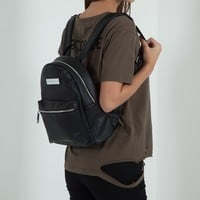Mini Leather Backpack - Black