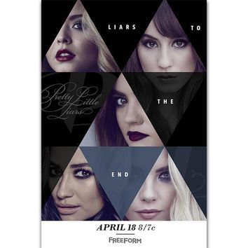 FX1849 Pretty Little Liars TV Series Show 2017 Final Season 7 Poster Art Silk Light Canvas Home Room Wall Printing Decor