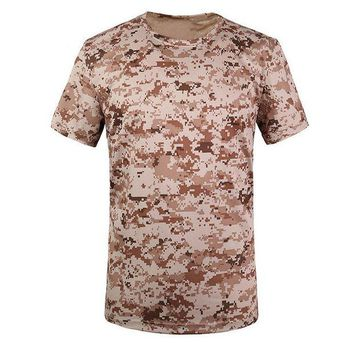 DCCKFS2 New Outdoor Hunting Camouflage Men Breathable Army Tactical Combat T Shirt Military Dry Sport Camo Camp Tees-Tree camouflage