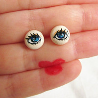 Halloween Stud Earrings, Inusual Eyes Post earrings