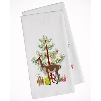 Vicugna or Vicuna Christmas White Kitchen Towel Set of 2 BB9284WTKT