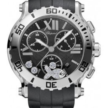 Chopard - Happy Sport - Chrono - Stainless Steel - 3 Mobile Diamonds