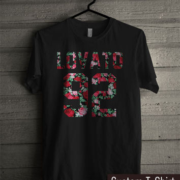 Demi Lovato 92 Floral - tr3 Unisex Tees For Man And Woman / T-Shirts / Custom T-Shirts / Tee / T-Shirt