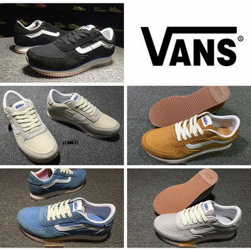 2016 Newest Vans Runner Shoes Women And Mens OG White Blue Black Yellow Grey Fashion Sneakers Winter Casual Shoes Size 36-44