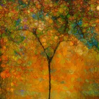 Colorful Abstract Tree by Dan Sproul