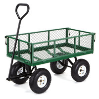 Gorilla Carts Steel Garden Cart with Removable Sides with a Capacity of 400 l...