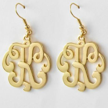 Sassy Initial Earrings