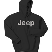 All Things Jeep - Jeep Light Gray Original Logo Hooded Sweatshirt