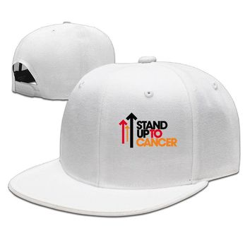 Stand Up To Cancer SU2C Logo Cotton Unisex Adult Womens Hip-hop Hats Mens Fitted Hats
