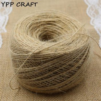 YPP CRAFT 1mm Thin rope, Natural Jute Twine Cord DIY/Decorative Handmade Accessory Hemp Jute Rope For Papercrafting 400m