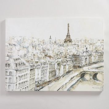 Paris City Sketch by Piotr Michal
