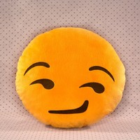 Smirk Emoji Pillow