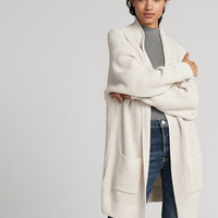 Shaker Knit Wedge Cover-Up