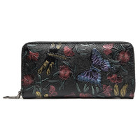 Fashion Clutch Floral Long Purse Thin Wallet  Holder Handbag Women Bag
