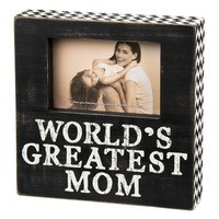 Primitives By Kathy ''World's Greatest Mom'' 4'' x 6'' Frame