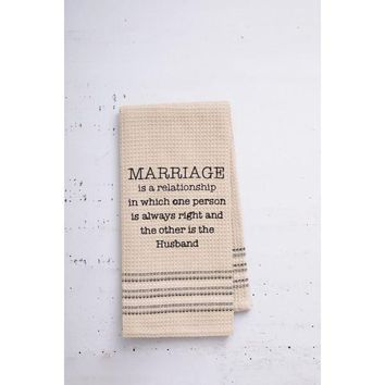 Marriage Dishtowel