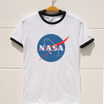S M L XL -- Nasa Tshirts Teen Gift Funny Tumblr Graphic Shirts Tumblr Shirts Women Shirts Men Shirts Ringer Shirts Long Sleeve Short Sleeve