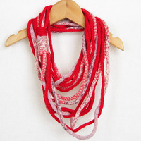 Scarf necklace infinity scarf loop scarf neck wrap by piabarile