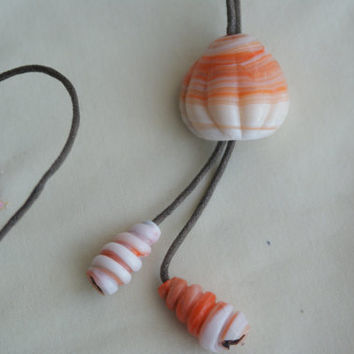 Handmade Glass Necklace  FREE SHIPPING