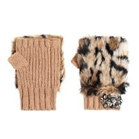 Luxe Faux Fur Fingerless Gloves