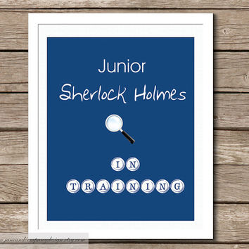 Sherlock Holmes in Training Typography by JaneAndCompanyDesign