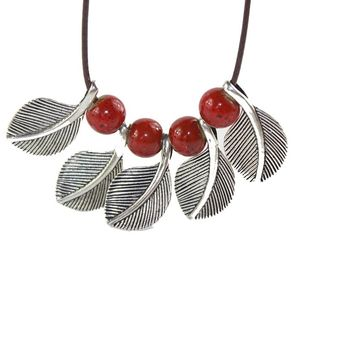 Simple Ceramic Mothers Gift Pendant Necklace