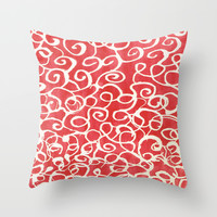 Holiday Wrapping Throw Pillow by Rosie Brown