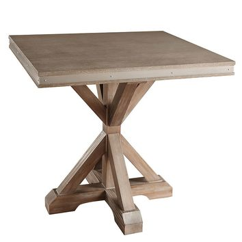 HomeVance Lorado Metal Accent End Table (Distressed Oak)