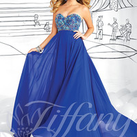 Strapless Sweetheart Formal Prom Dress Tiffany Designs 16028