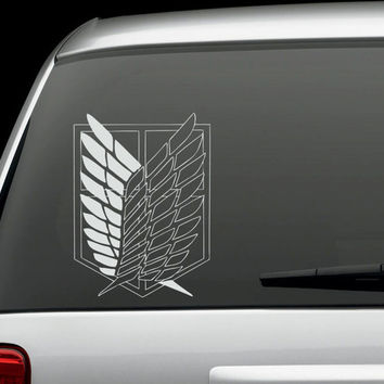 Attack on Titan Scouting Corps Badge Insignia - Vinyl Decal