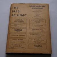 THE RESUME Yearbook Springfield Senior High School by Edited by the Springfield Senior High School Yearbook staff: Published by the Springfield Senior High School Yearbook staff Hardcover, Illustrated Edition - Wisdom Lane Antiques