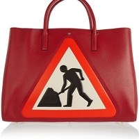 Anya Hindmarch - Ebury Maxi Men At Work textured-leather tote