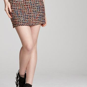 Camila Chain Belted Tweed Skirt Discover the latest fashion trends online at storets.com