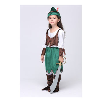 European Children Kid Garment Cosplay Anime Girl Costume Pirate Dancing Dress