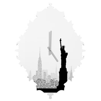 Restudio Designs New York Skyline 5 Baroque Clock