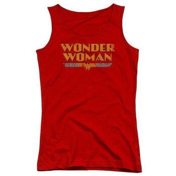 CREYM83 Wonder Woman Logo Juniors Tank Top