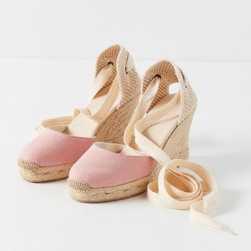 Soludos Tall Linen Wedge | Urban Outfitters