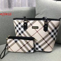 Burberry 2019 new tide brand female handbag Messenger bag two-piece black