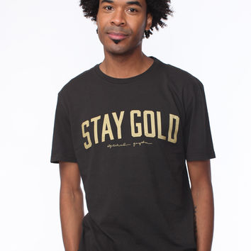 STAY GOLD TEE VINTAGE BLACK
