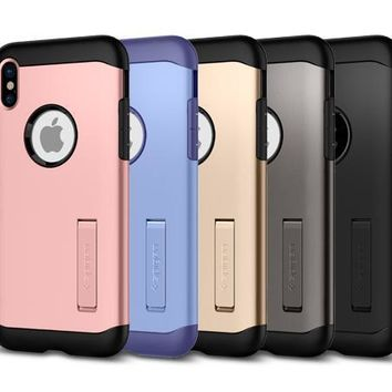 Spigen Tough Armor Shockproof with Kickstand Case for apple iPhone X 10