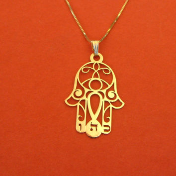 Tiny Hamsa Necklace Gold Filled Hamsa Necklace Israeli Jewelry Bat Mitzvah Gift Necklace With Hamsa Gold From Israel Hamsa Hand Necklace