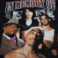Vintage design Inspired with In Memory Of Aaliyah Tupac Notorious BIG Lisa LeftEye TLC T shirt