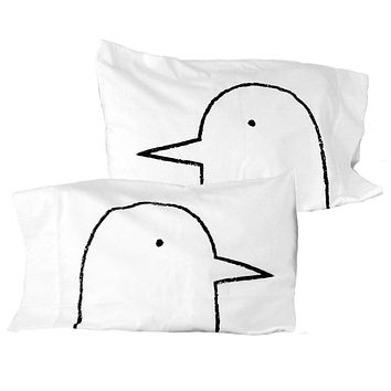 Lovebirds Pillowcases -  Set of 2