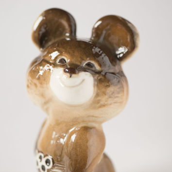 Mascot Misha figurine rare Bear Cub from Olympics games in Moscow figurine home decor collectible porcelain